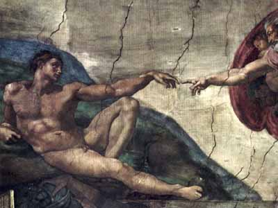 Michaelangelo: Creation of the human being